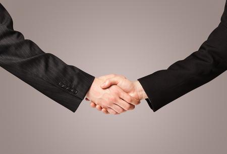 business handshake: Business handshake on gradient background