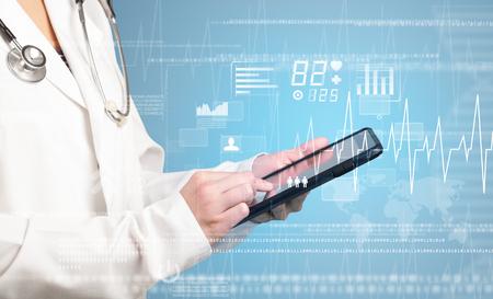 青色の背景色と心と女医持株タブレット関連グラフ