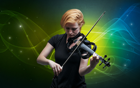 Serious classical violinist with fabled sparkling wallpaper