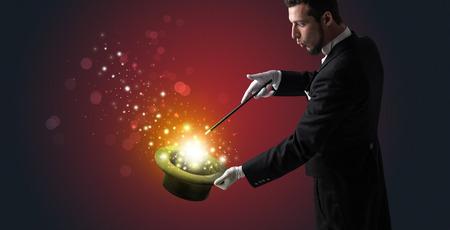 White glove hand conjuring something mysterious Standard-Bild
