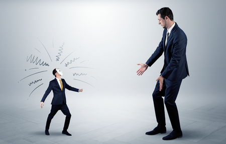 Conflict between small and big businessman