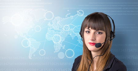 Female telemarketer c