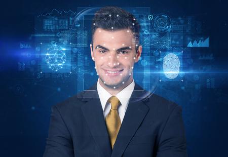 face and fingerprint detection concept