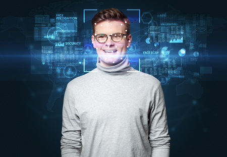 Face recognition with several points