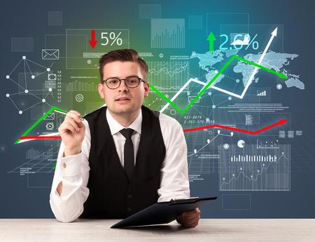 Businessman sitting at a desk