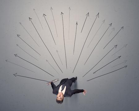Businessman making a decision Stock Photo