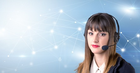 Female telemarketer concept