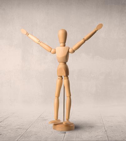 Wooden mannequin concept