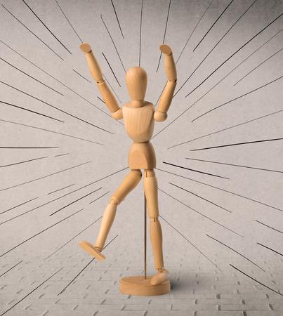 Wooden mannequin concept Banco de Imagens - 117366143