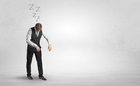 Businessman with sleeping sickness going somewhere Stock Photo