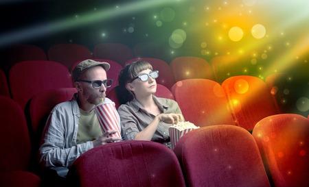 Couple watching something miraculous Stock Photo