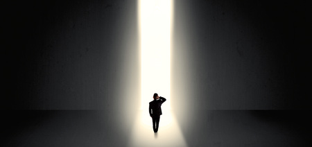 Businessman seeing the light at the end of something