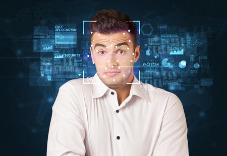 Digital Face Recognition System concept