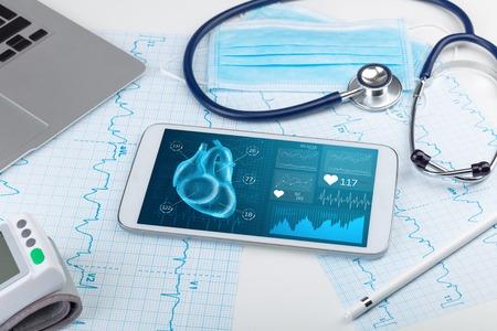 Close up of modern medical diagnostics concept 免版税图像 - 122299629