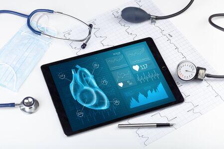 現代医学診断の概念のクローズアップ