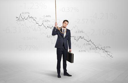 Concept of bankruptcy with stressed businessman Reklamní fotografie