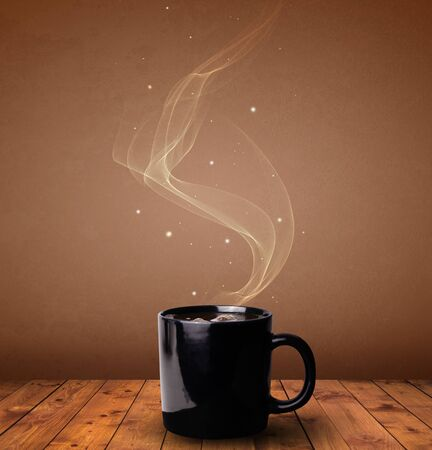 Steaming cup of coffee concept 写真素材