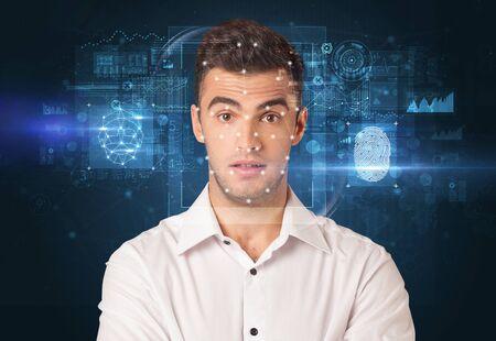 Biometric verification - face and fingerprint detection concept