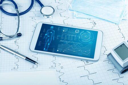 Medizinische Ganzkörper-Screening-Software auf Tablets und Gesundheitsgeräten