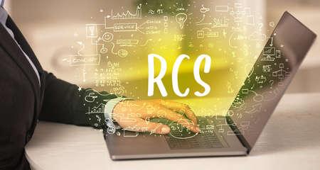 hand working on new modern computer