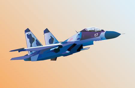 fighter pilot: Lancio del piano di lotta contro militari all'alba. Vettoriali