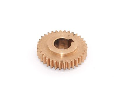 split level: Leading gear wheel from a motorcycle of conic type.