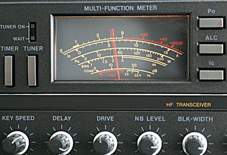 The measuring instrument amateur radio transceiver.