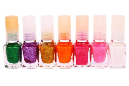 Collection of nail polishes on a white background Stock Photo - 6593213