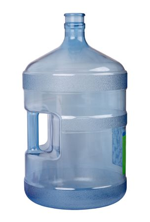 A large bottle (20 liters) for drinking water. Isolated object on a white background Stock Photo - 6818432