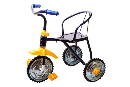 Children tricycle isolated on a white background Stock Photo - 9866161