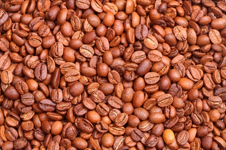 Coffee beans background. A series of food backgrounds photo