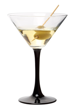 Martini cocktail in a martini glass isolated on a white background Stock Photo