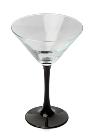 martini glass: Martini glass isolated on a white background