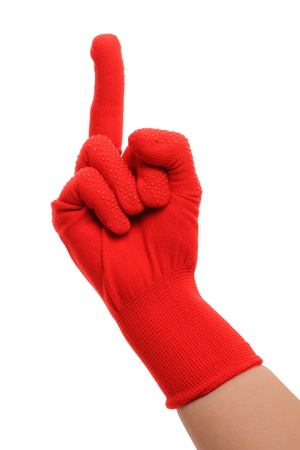 Middle finger hand gesture isolated on white background. Stock Photo - 9866455