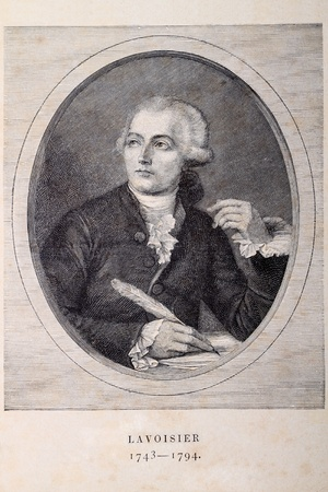 laurent: Portrait of a french chemist Antoine Laurent Lavoisier (1743 - 1794) on old paper. Editorial