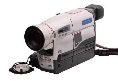 Video Camera format HVS isolated on a white background