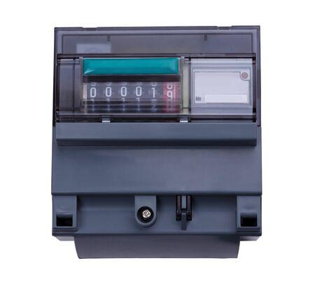 contador electrico: Medidor el�ctrico digital. Aisladas sobre fondo blanco