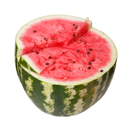 Half of the watermelon isolated a white background
