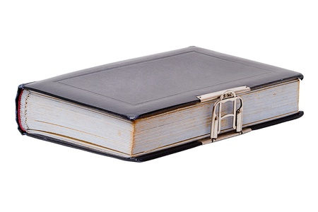 Vintage Photo Album with a metal buckle. Cover for the copy space Stock Photo