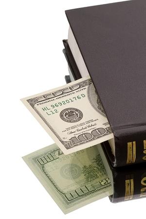 one hundred dollars: One hundred dollars for bookmark the book