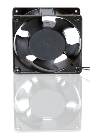 supercharger: Electric Fan for cooling computer. Isolated on white background Stock Photo