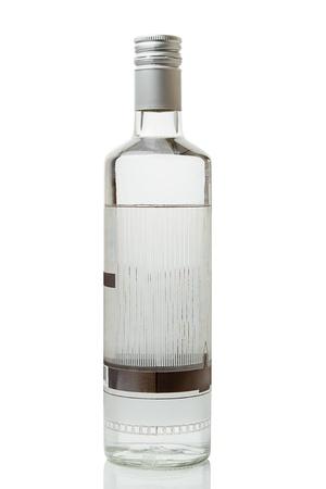 alcohol bottles: Vodka bottle isolated on white background