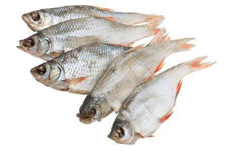 Stockfish rudd isolated on a white background  photo