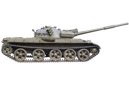 military tank: Soviet tank T-72  Ural  - main battle tank production of the USSR  Isolated on white background