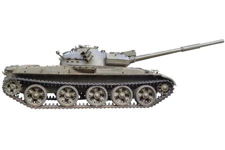tanque de guerra: Tanque soviético T-72 Ural - producción principal tanque de batalla de la URSS Aislado sobre fondo blanco