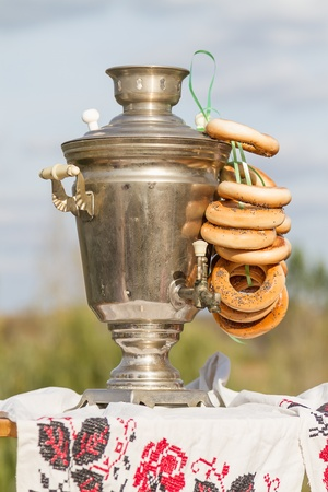 boublik: Russian samovar and bagels in the outdoors  Tea ceremony