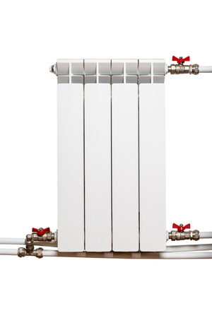 Heating radiator  isolated on a white background photo