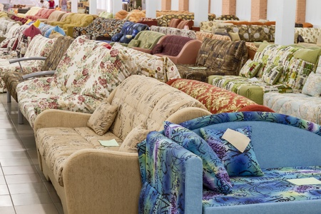 Furniture store which sells sofas and beds