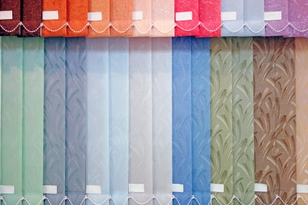 blinds:  Background from multi-colored vertical blinds