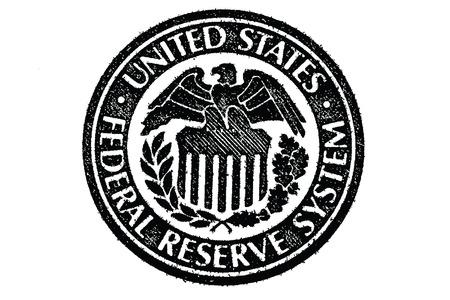 U S 紙のお金の連邦準備制度の記号